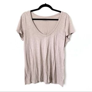 Halogen Heathered Taupe Top